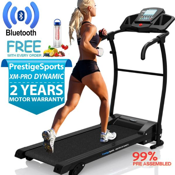 XM-PRO Dynamic™ Motorised Folding Treadmill With 3 Level Incline & MP3